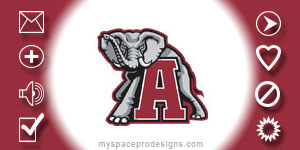 Alabama Crimson Tide ncaa contact table by Uday