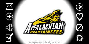 Appalachain Mountaineers ncaa contact table by Uday