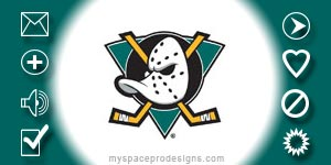 Anaheim Ducks nhl contact table by Uday