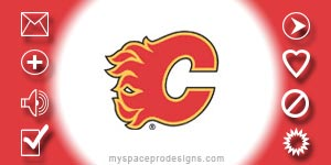 Calgary Flames nhl contact table by Uday